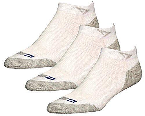 Drymax Socks Run Mini Crew - White/Gray M 11-13 - 3 Pack by Drymax Sports