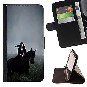 HOOD RIDING FIELD HORSE WITCH GALLOP/ Personalizada del estilo del dise???¡Ào de la PU Caso de encargo del cuero del tir????n del soporte d - Cao - For Apple Iphone 6 PLUS 5.5