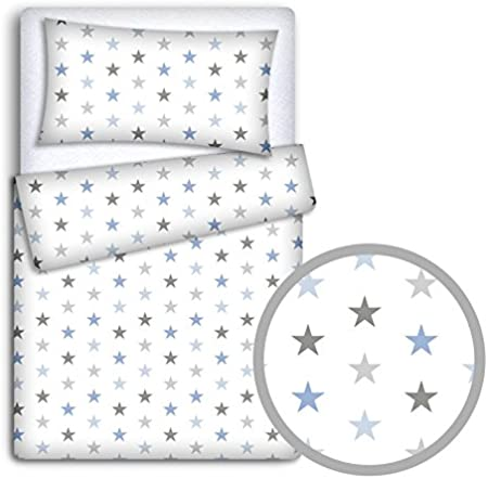 Red Hearts On White Background 2-Piece Babymam Baby Bedding Set Pillowcase//Duvet Cover to Fit Baby Cot