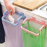 Incinerator Toilet Kitchen Cabinet Hanging Rubbish Bag Holder Garbage Storage Rack Cupboard Hanger green color