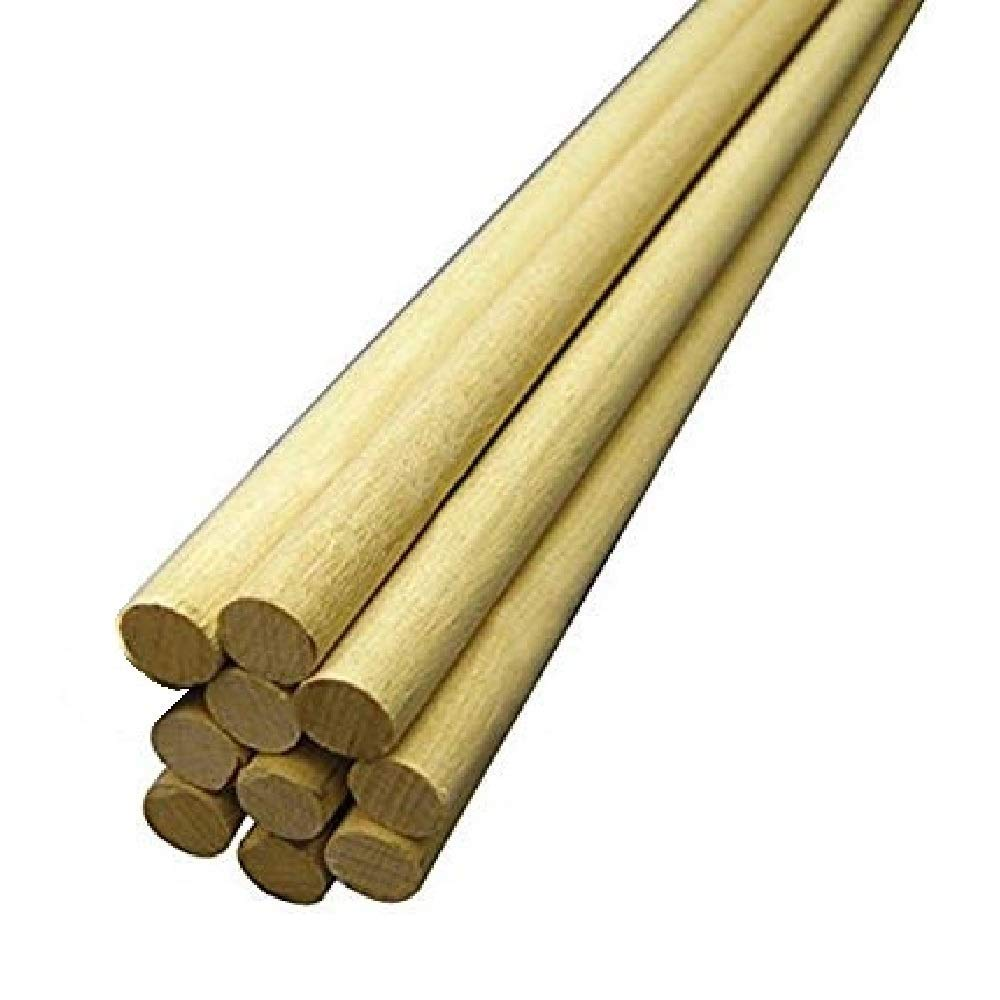 50-Pack Wooden Dowel Rods, Inc 3//4-Inch x 12-Inch Hygloss Products