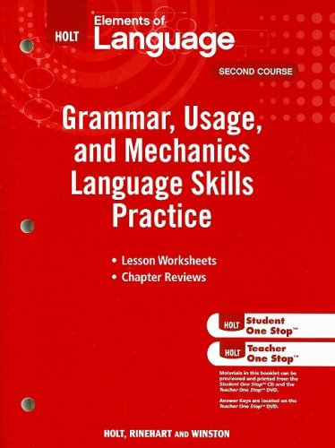 Elements of Language: Grammar Usage and Mechanics Language Skills Practice Grade 8