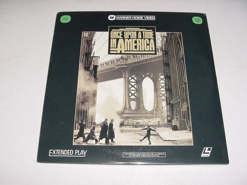 Laserdisc Sergio Leone's Once Upon A Time In America, with Robert DeNiro, James Woods, Elizabeth McGovern, Joe Pesci, Burt Young, Tuesday Weld, And Treat Williams. (Once Upon A Time In America Extended Version)