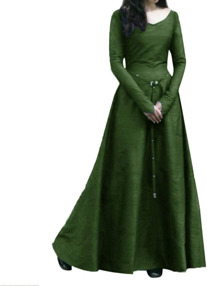 Goosun Vestido Medieval Renacimiento Mujer Vintage Victoriano ...
