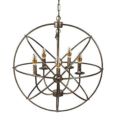 NEUTYPE 5-Lights Sphere/Orb Chandeliers Antique Design Ceiling Chandelier Industrial Vintage Lighting
