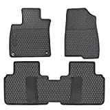 HD-Mart Car Rubber Floor Mat for Honda Accord 10th Generation 2018-2019 Custom Fit Full Black Auto Liner Mats All Weather, Heavy Duty & Odorless