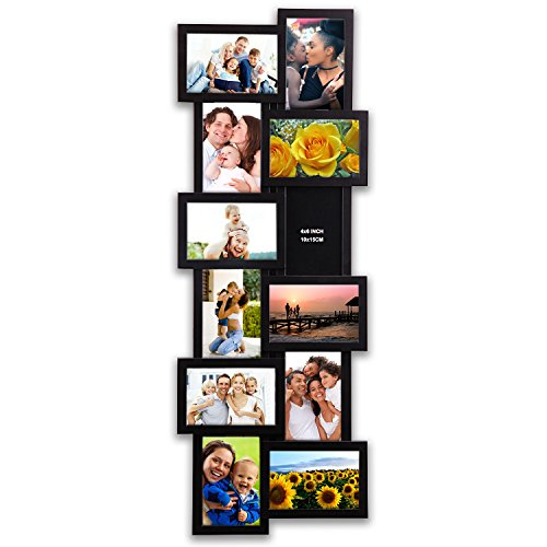 HELLO LAURA 32 by 12 inch Gallery Collage Wall Hanging Photo Frame For 4 x 6