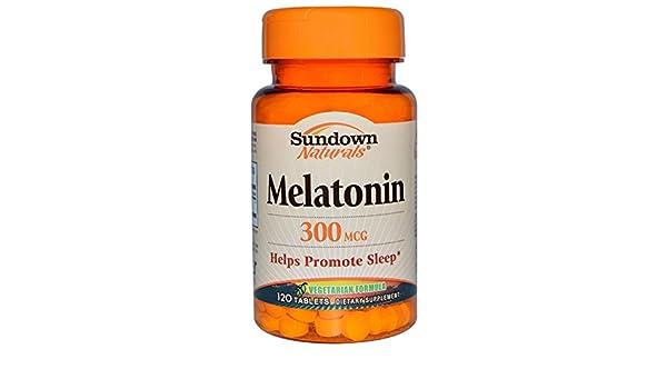 Amazon.com: Sundown Naturals, Melatonin, 300 mcg, 120 Tablets - 3PC: Health & Personal Care
