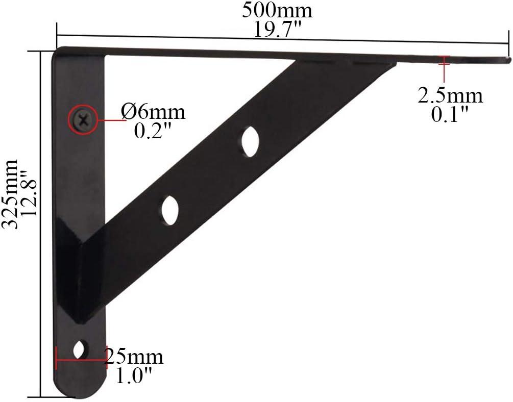 shcc Support /Équerre Supports /à Tablette Muraux Charge Maximale De 310 LB 2 Supports De Tablette Supports en L avec Fixation /à Vis Solide en Acier Inoxydable