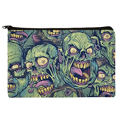 Zombie Pattern Dead Corpses Undead Horror Pencil Pen Organizer Zipper Pouch Case]()