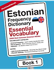 Estonian Frequency Dictionary - Essential Vocabulary: 2500 Most Common Estonian Words