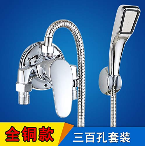L redOOY Valve switch faucet set wall mounted shower head hot and cold solar water heater mixing valve water switch, [alloy] water inlet up