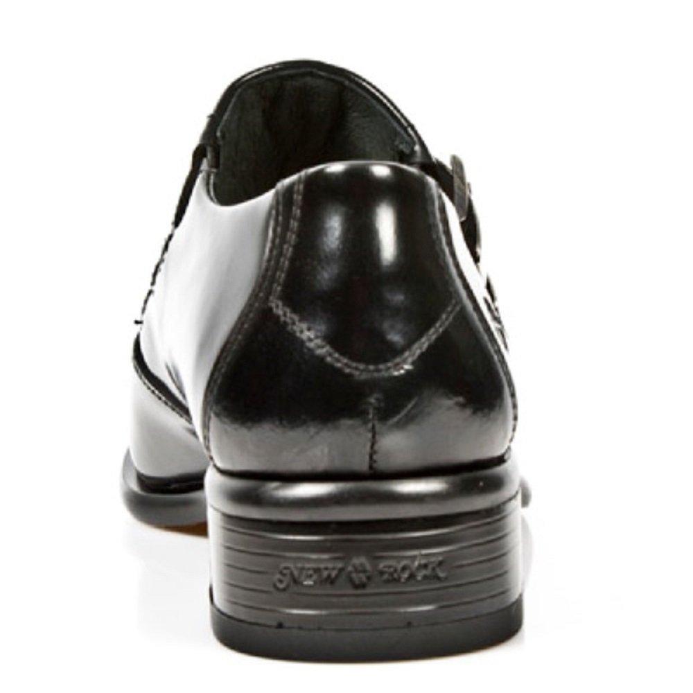 NewRock New Rock 2246-S20 Schuhe Schwarz Leder West Stehlen Schnalle Schuhe 2246-S20 - c6307b