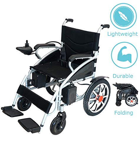 - Best Wheelchair 2019 New Electric Wheelchair Folding Lightweight Heavy Duty Electric Power Motorized Wheelchair (Black)