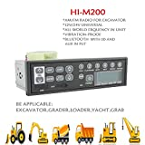 12v/24v Car Bluetooth Excavator Radio AUX-IN Slot Fm/am USB Mic Mp3 for Hitachi Komatsu Kato