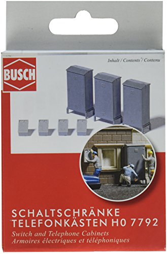 Telephone Scale Ho (Busch 7792 Switch/Telephone Cabinets HO Scenery Scale Model)