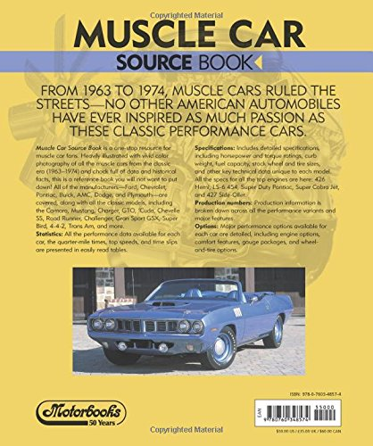 muscle car source book all the facts figures statistics and production numbers