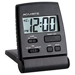 AcuRite 47391 LCD Travel Alarm Clock