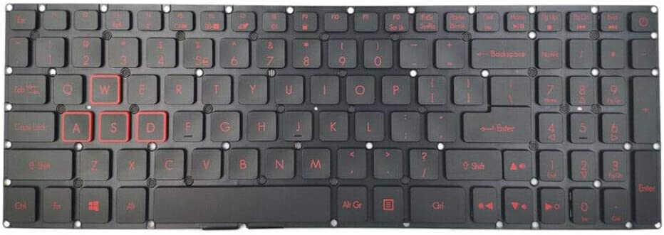 Replacement Keyboard Compatible with Acer Nitro 5 AN515-41 AN515-42 AN515-51 AN515-52 AN515-53 Series Laptop with Backlit US Layout