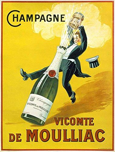 - Champagne Vicomte De Moulliac by Marcus Jules Art Print, 17 x 22 inches