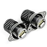 Astra Depot 80W Xenon White CREE LED Angle Eye Halo Marker Light Bulb + Canbus + Ballast Set For 09 10 11 BMW E90 Sedan E91 Wagon