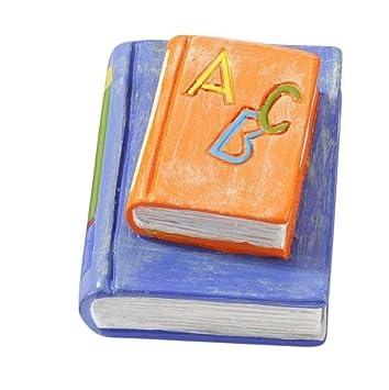3 D Figur Bucher Orange Blau Tischdeko Aus Kunstharz Zur