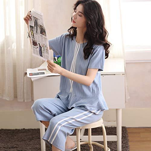 Suelto Verano Pantalones Corta A Servicio Color Manga Xxl Camisón Algodón De Sólido Camisón Pijama Baujuxing Mujer Camisón Traje Cortos Domicilio CaqwvdnOx