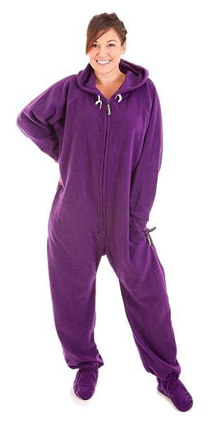 Forever Lazy - Mono de Pijama Unisex para Adulto - Púrpura - XS