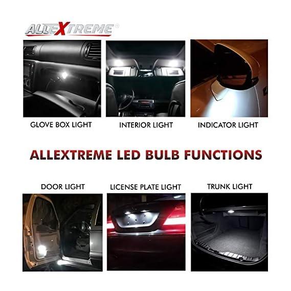 AllExtreme EX31SDW 10 LED Car Interior Roof Light Super Bright Reading SUV Dome Lamp Bulb with Festoon Holder (5W, White