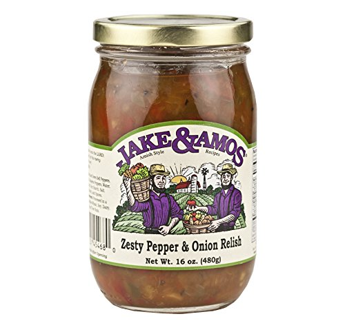 Jake & Amos Zesty Pepper & Onion Relish 16 oz. (3 Jars)