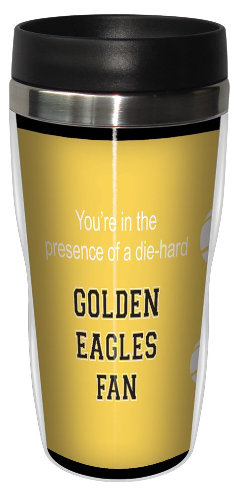 16 Ounce Tree Free Tree-Free Greetings sg24891 Golden Eagles College Basketball Sip N Go Stainless Steel Lined Travel Tumbler