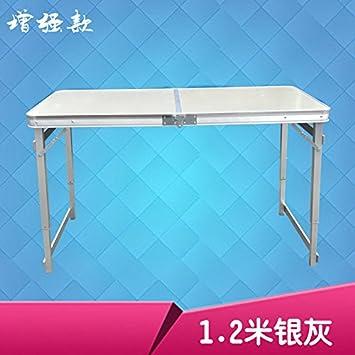 Xing Lin Mesa Plegable Piscina Mesa Plegable Portátil Ultra Ligera De Aluminio Mesa Calada Mahjong Barbacoa