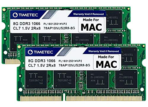 Timetec Hynix IC 16GB KIT(2x8GB) Compatible for Apple DDR3 1067MHz / 1066MHz PC3-8500 RAM for MacBook (Mid 2010 13-inch), MacBook Pro (Mid 2010 13-inch), iMac (Late 2009 27-inch), Mac Mini (Mid 2010)
