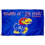 College Flags and Banners Co. Kansas Jayhawks Beware of The PHOG Flag For Sale