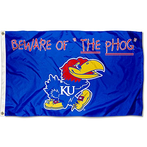 - College Flags and Banners Co. Kansas Jayhawks Beware of The PHOG Flag