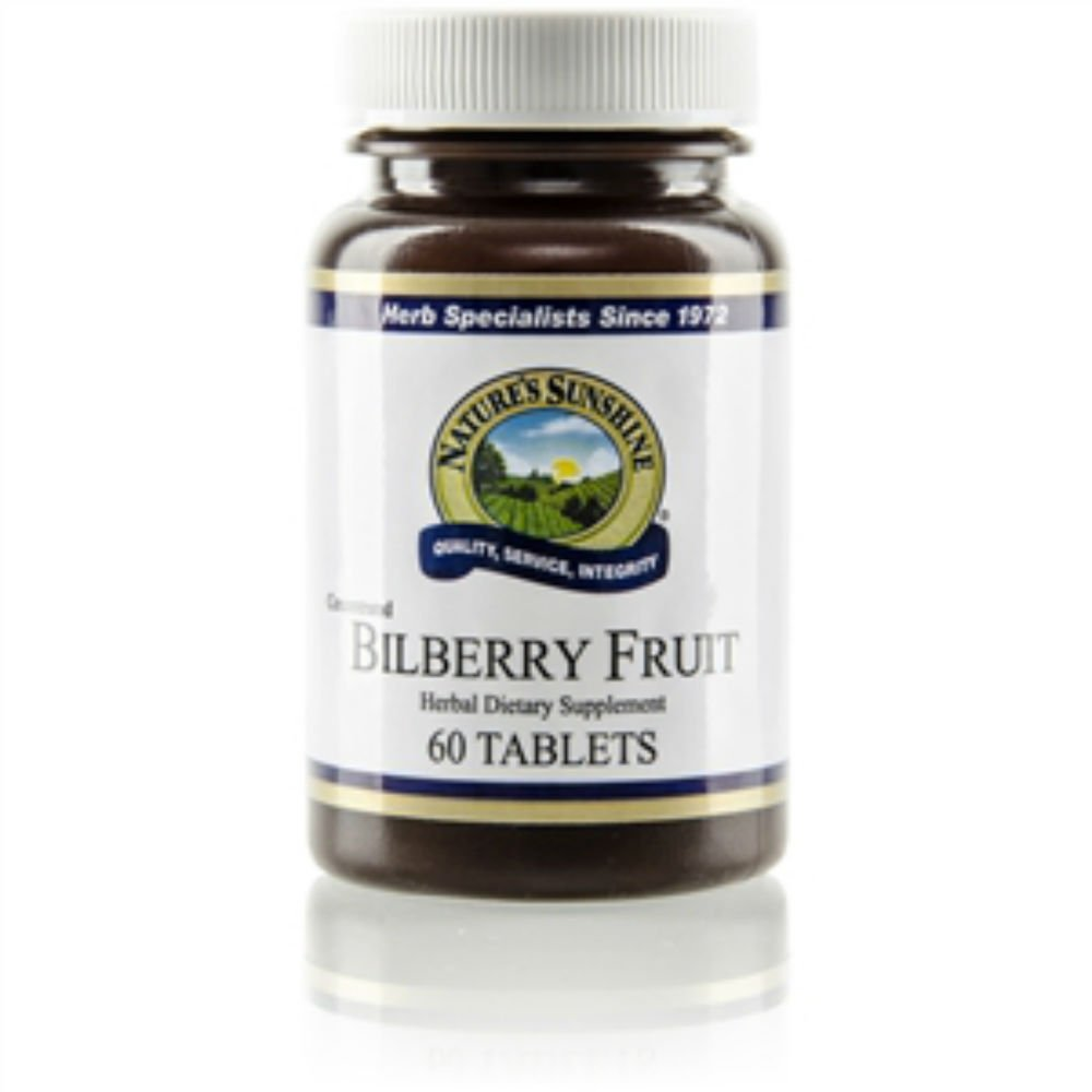 Naturessunshine Bilberry Fruit Concentrate Supports Circulatory System 40 mg 60 Tablets (Pack of 6)