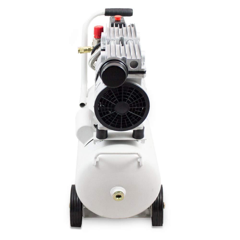 24L Druckluftkompressor Kompressor Silent Fl/üster Leisekompressor Druckluft /Ölfrei 750 W ✓ Druck 7 Bar ✓ /Ölfrei ✓ Nur 60 dB