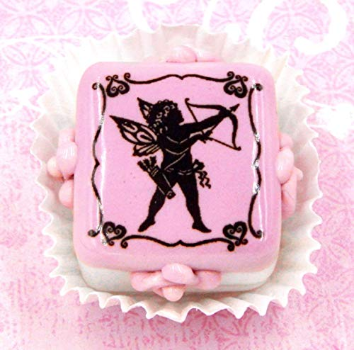 Glass 'Cupid' Valentine Chocolate Candy Handmade Gift Home Table Décor