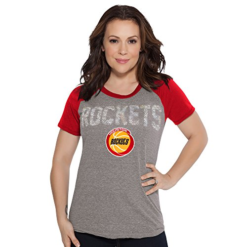 Touch by Alyssa Milano NBA Houston Rockets Conference Tee, Large, Heather Grey