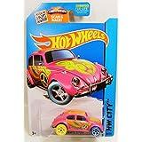 Hot Wheels 2015 HW City Art Cars Treasure Hunts Hunt Volkswagen VW Beetle Bug Pink Peace Hippy
