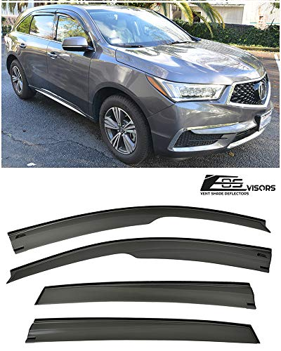 (Extreme Online Store for 2014-Present Acura MDX   EOS Visors JDM Mugen Style Smoke Tinted Side Vents Window Deflectors Rain)