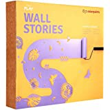 Asian Paints Wallstories CN16 Do-It-Yourself Stencil Kit (Maroon, Matte Finish,8-Pieces)