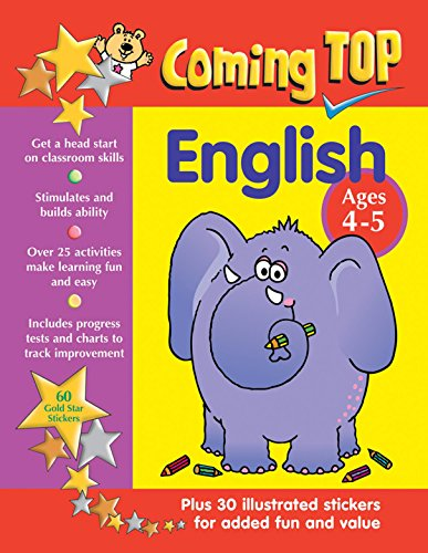 Coming Top English Ages 4-5: Get A Head Start On Classroom Skills - With Stickers!