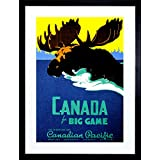 VINTAGE TRAVEL CANADA MOOSE BIG GAME NEW FRAMED ART PRINT PICTURE F12X1807