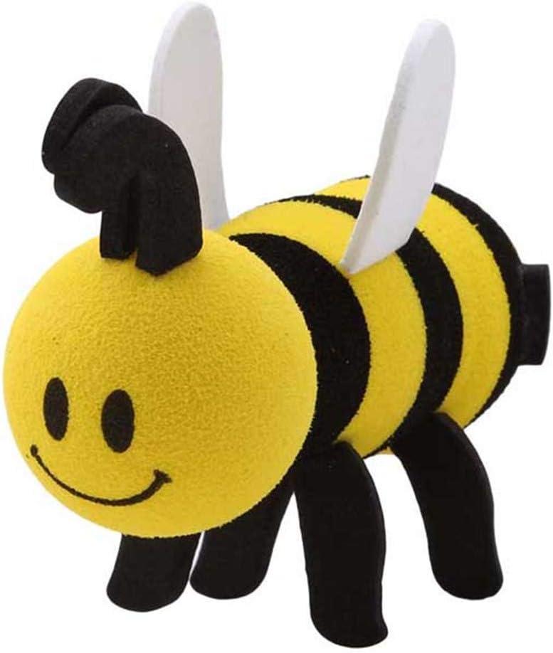 1x Smiley Honey Bumble Bee Creative Gift Car Antenna Topper Aerial Ball Decor