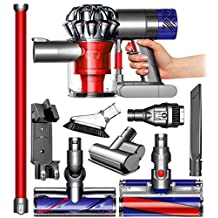 Dyson V6 Absolute Cordless HEPA Vacuum Cleaner + Fluffy Soft Roller and Direct Drive Cleaner Head + Wand Set + Mini Motorized Tool + Dusting Brush + Docking Station + Combination Tool + Crevice Tool