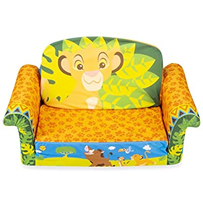 Marshmallow Furniture, Children's 2-in-1 Flip Open Foam Sofa, Disney's The Lion King, by Spin Master