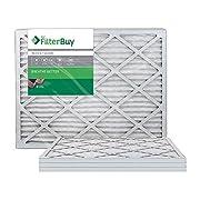 FilterBuy 20x25x1, Pleated HVAC AC Furnace Air Filter, MERV 8, AFB Silver, 4-Pack
