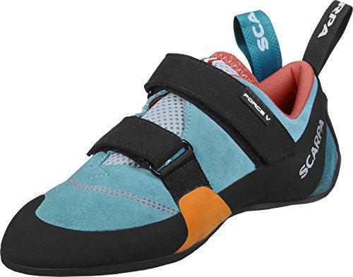 Scarpa Force V W Zapatos de escalada icefall/red icefall/madarin red