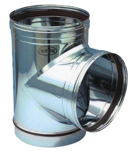 Empalme a T para Tubo Estufa de acero inoxidable Piemme Speedy Art.09a 90° diámetro 180mm: Amazon.es: Bricolaje y herramientas